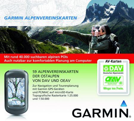 Alpenvereinskarten für Garmin GPS-Geräte