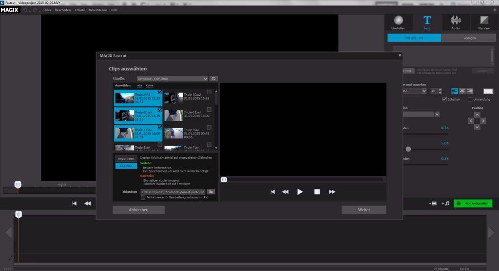 Videos importieren