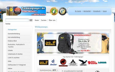 Einkauf bei Trekkinglager.de