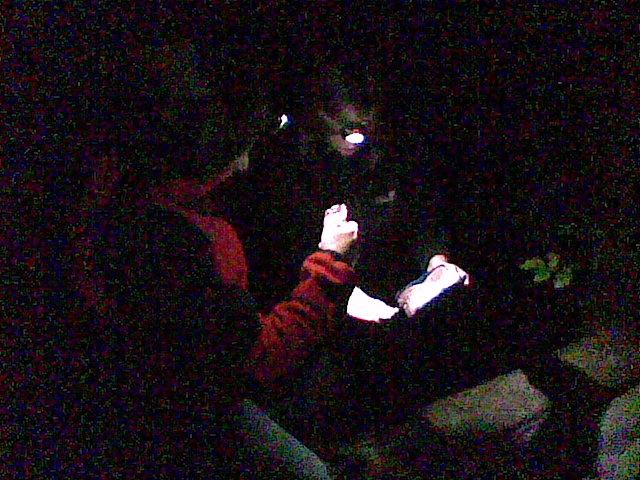 Erste Nachtcache Suche erfolgreich