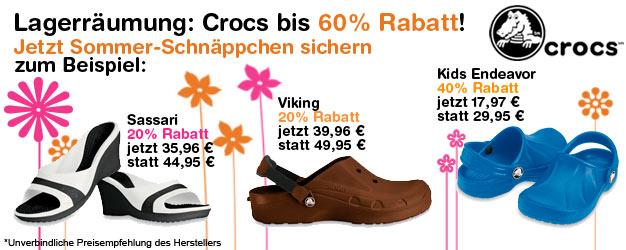 Crocs bis zu 60% reduziert