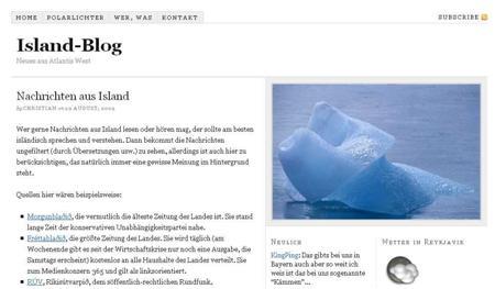 Blog Vorstellung #7 : Island-Blog