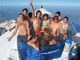 Jacuzzi Party auf dem Mont Blanc