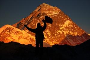 Levpist vor dem Mount Everest