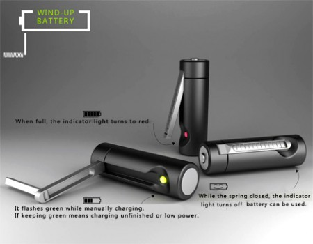 Wind Up Battery